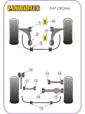 Powerflex PFR66-519-19 Rear Anti Roll Bar Mounting Bush 19mm