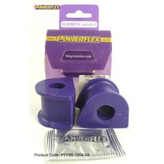 2 pu-douilles couplage tige 23mm va vw t3 transporteur bus powerflex pff85-1008-23