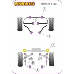 2 x Powerflex PFR5-504-14 Stabilager 14 mm Hinterachse BMW E39 Z3 E24 E28
