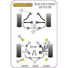 Nr.25 Powerflex PFR5-525 vorderes Differentiallager BMW E39