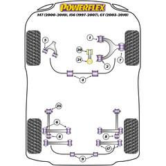 2 x Powerflex PFF1-801 vordere PU Buchsen für Querlenker Vorderachse Alfa GTV