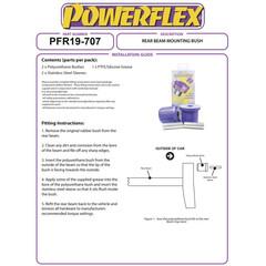 Nr.4 2x Powerflex PFR19-707 PU Buchsen Hinterachse Ford Fiesta IV Puma KA